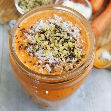 Wortel sinaasappel smoothie met banaan | Gewoon een foodblog!